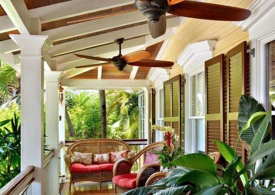 Decorative celing fans porch