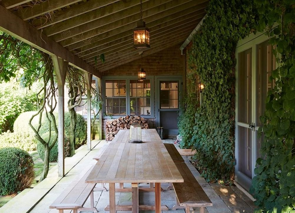 Ivy covered walls porch