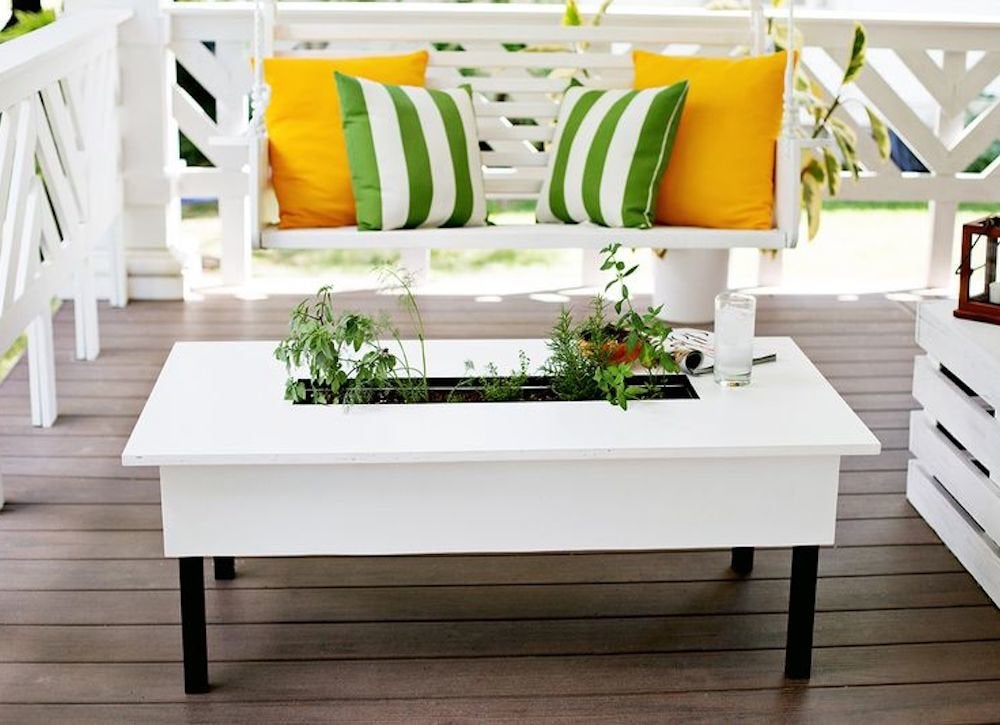 Herb coffee table porch