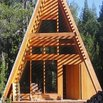 Wood A-Frame House