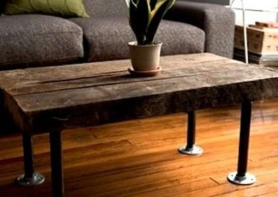 Make A Completely Upcycled Table With Pipe And Reclaimed Wood Enough You Can Build Side Coffee Or Even Dining Room