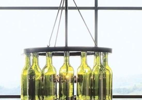Wine bottle chandelier jazzyliving.com