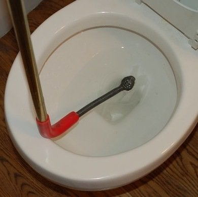 Toilet auger insert. How to Unclog a Drain   Jim Lavallee Plumbing