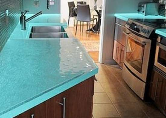 Glass Countertop Options : Glowing Countertop - Countertop Ideas - 6 Unique Designs - Bob Vila