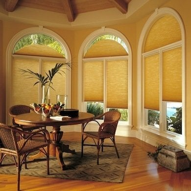 Specwindow arch2 duette dining room hunterdouglas