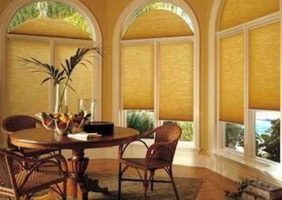 Specwindow arch2 duette dining room hunterdouglas