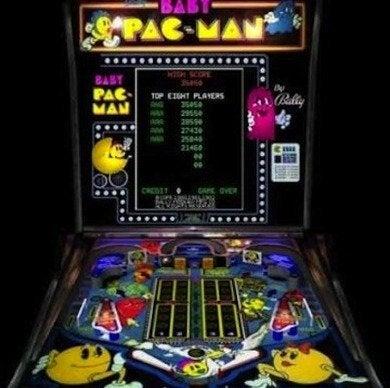 Baby pac man vintage arcade