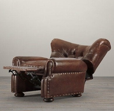 Restorationhardware churchillleatherrecliner