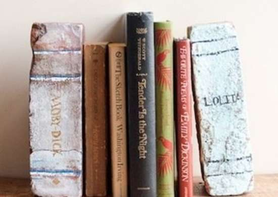DIY Brick Bookends