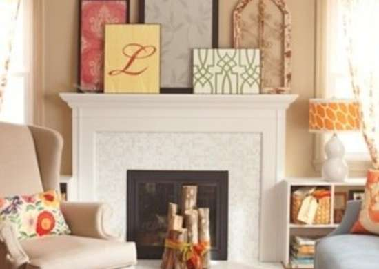 Picture Frames on Mantel