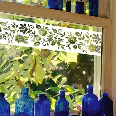 Naples etched glass border