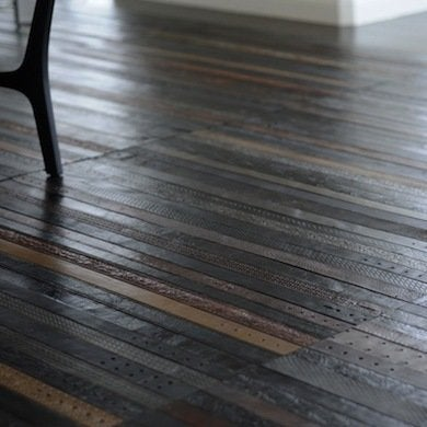 Belts Beneath Your Feet. Cheap Flooring Ideas   15 Totally Unexpected DIY Options   Bob Vila
