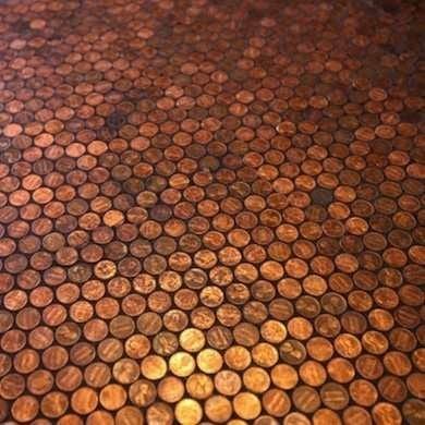 Cheap Flooring Ideas - DIY Penny Floor