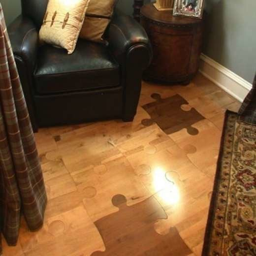 Cheap Flooring Ideas - Puzzle Flooring