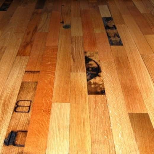 Whiskey Barrel Floor