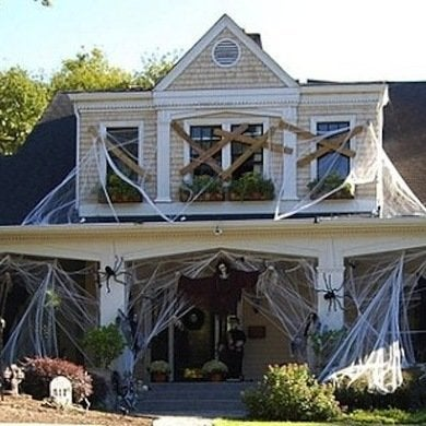 Decoration of scarry hallowen haunted house design homedesignstips