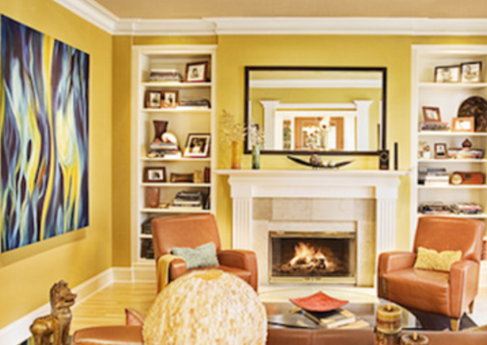 Yellow paint living room paint ideas bob vila for Yellow painted rooms