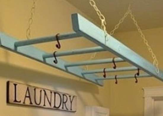 Laundry Ladder Laundry Room Storage Ideas To Knock Your
