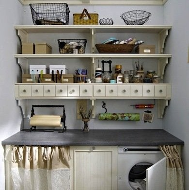 Laundry room storage ideas to knock your socks off bob vila - Laundry room shelving ideas ...
