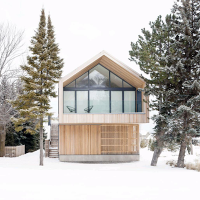 Winter cabin ski chalet 9 warm and cozy 21st century for Ski chalet home designs