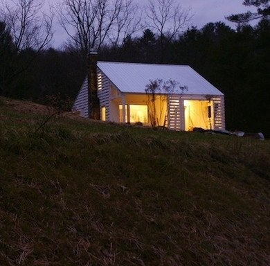 Chadeverhart mountainreshack exterior night rda13013 digital image  12
