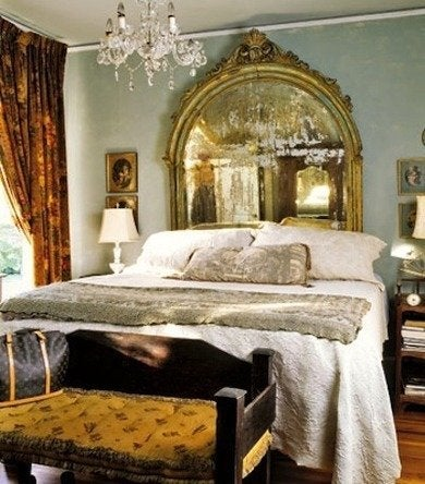Mirror headboard bedroom htours1006 countryliving