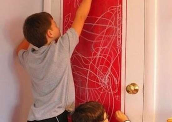 DIY Chalkboard Door