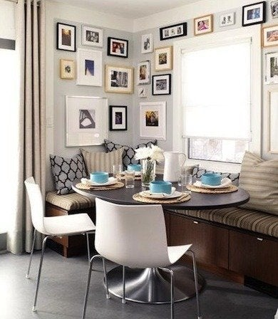 Banquette gallery wall via designmanifest blogspot crop