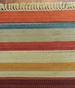 Potterybarn rustic stripe rug color trend bob vila