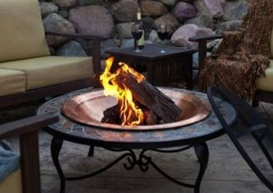 Mosaic Fire Bowl