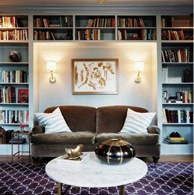 Recessed sofa