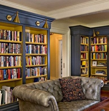 Reading room in blue