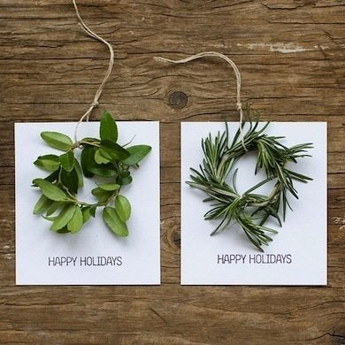 Mini wreath holiday cards
