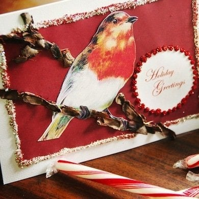 Original marian parsons bird holiday card beauty s4x3 lg