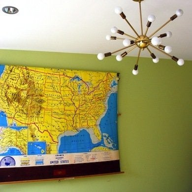 Vintage school map