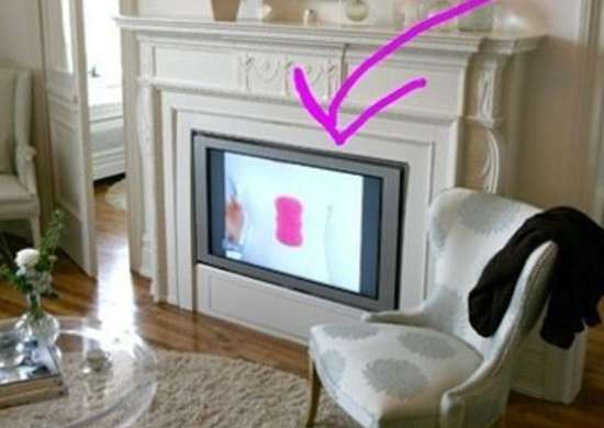 TV in Fireplace