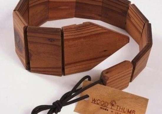 Woodthumb recycledwood tie 2