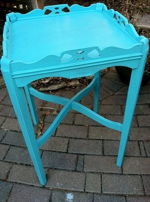 Kyeager paint make over accent table bob vila 5