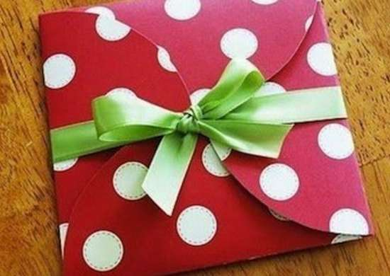 Envelope gift wrap