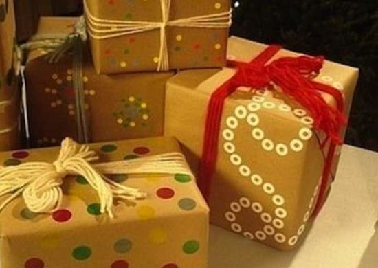 Recycled bags gift wrap