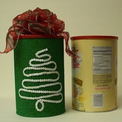 Cans and cannisters gift wrap