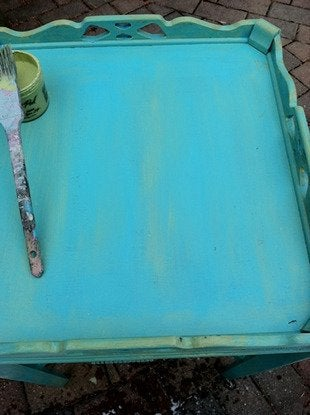Kyeager paint make over accent table bob vila 6