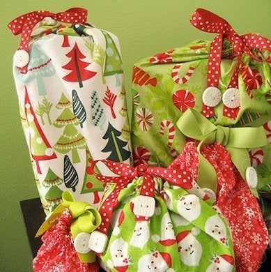 Fabric gift bag gift wrap