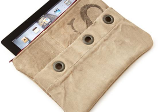 Upcycled mail sack ipad case uncommongoods