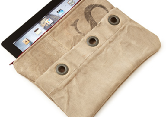 Upcycled mail sack ipad case uncommongoods