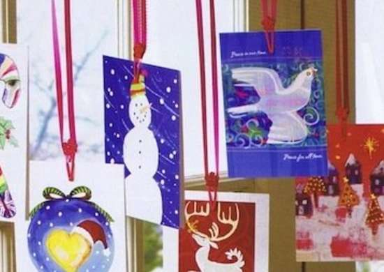 Hanging Holiday Cards