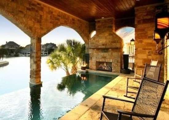 Poolside Fireplace - Fireplace Ideas - 7 Unexpected Hearths - Bob Vila