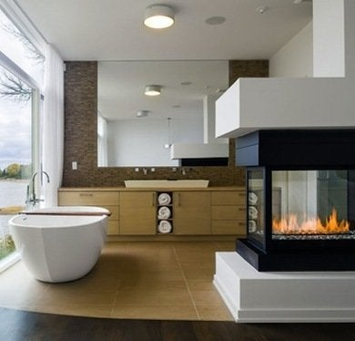 Soak it up fireplace