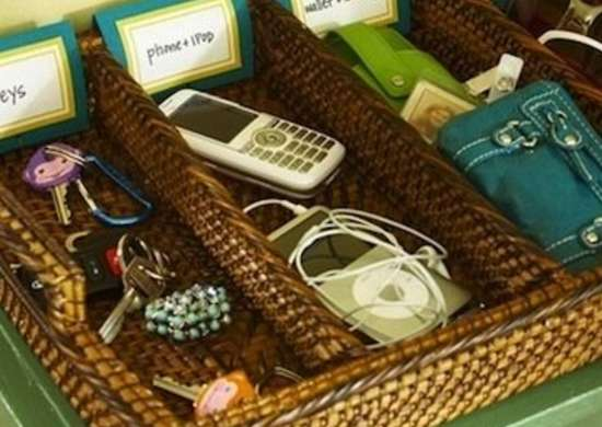 Cell Phone storage basket