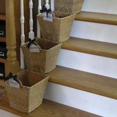 Put Each Family Memberu0027s Name On A Basket, And Keep The Baskets On Or Close  To The Stairs. As You Gather Up All That Stuff That Your Family Leaves  Around, ...
